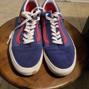 Van's Ol Skool size 11 blue and red pre owned
